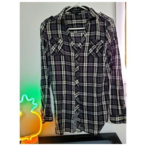 Streetwear Society plaid button up long sleeve